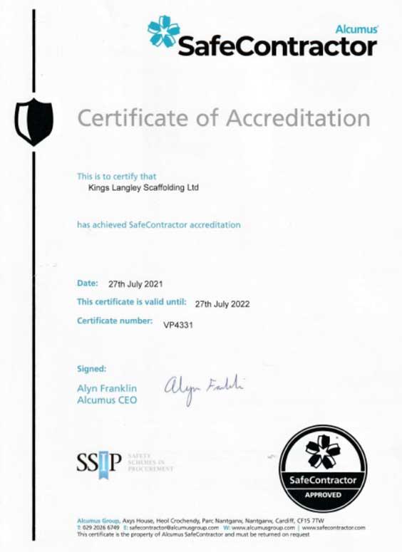 Safe-Contractor-certificate