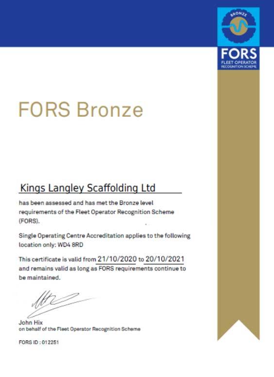 fors-bronze-certificate